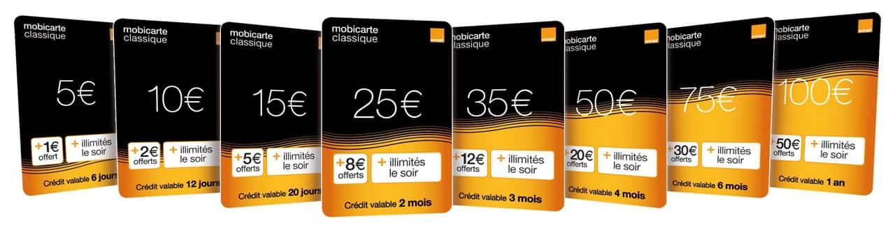 Recharges Pour Mobiles Mobicarte Sos Bug